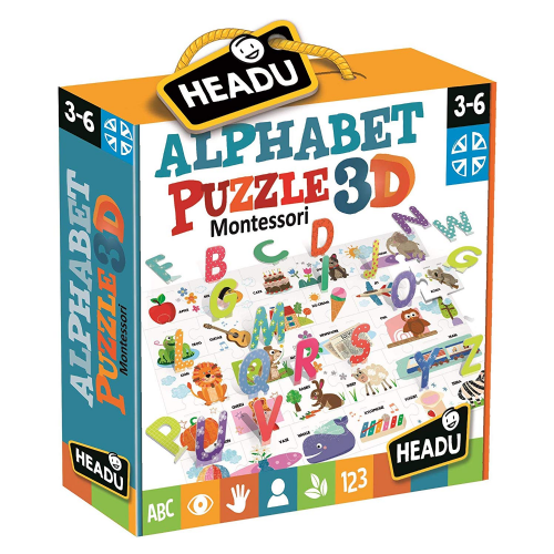 Headu Montessori Alphabet 3D Puzzle Kids Children Educational Gift 3+ Years